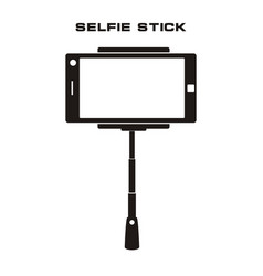 selfie stick icon isolated badge vector image vector image