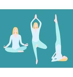 Yoga Flat Set vector image vector image