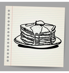 Pancake doodle vector image