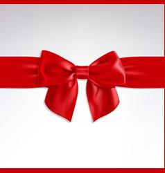 red bow of satin ribbon vector image