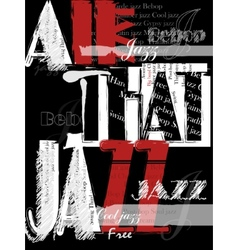 Vintage Jazz Poster Background vector image vector image