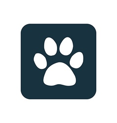 cat footprint icon Rounded squares button vector image vector image