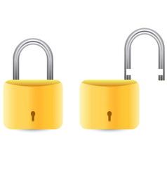 golden padlock set vector image vector image