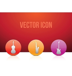 icon set music color vector image vector image