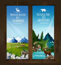Landscape banner set vector image vector image