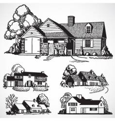 Retro real estate vector