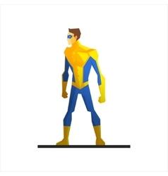 Superhero Wearing a Mask vector image vector image