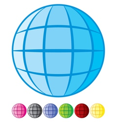 Abstract Globe Design vector image