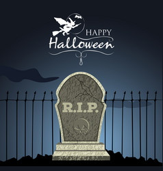 colored halloween card vector image vector image