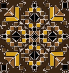 Ethnic motif in brown tones vector image vector image