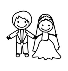 figure married couple icon vector image