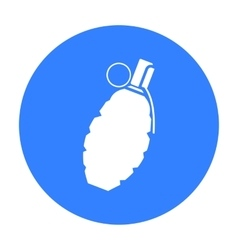 Grenade icon black Single weapon icon from the vector image vector image