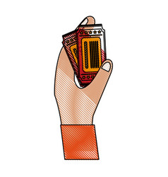 hand with tickets vector image