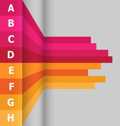 Horizontal banner with colorful lines vector image vector image