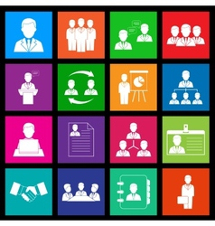 Human resources and management icon series in vector image