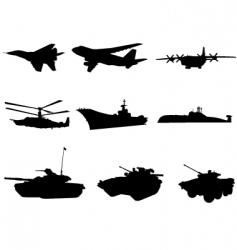 military technics vector image vector image