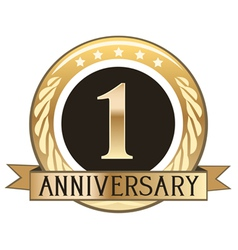 One Year Anniversary Badge vector image vector image