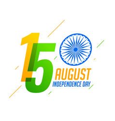 15th august happy independence day india vector