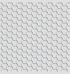 3d seamless web hexagon pattern gray tile vector image