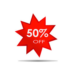 50 off sale discount banner special offer vector image