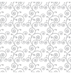 Abstract monochrome curve seamless pattern vector