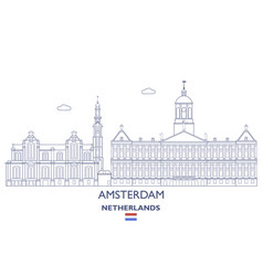 amsterdam city skyline vector image