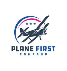 ancient airplane logo designs vector image
