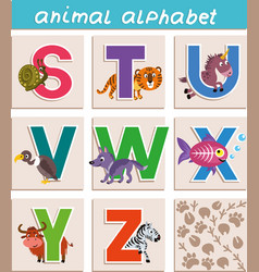 animal alphabet vector image
