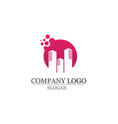 Apartment logo design for business corporate sign vector