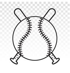 Baseball tournament line art icons for sports vector