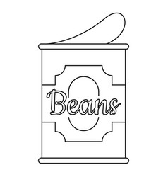 Beans tin can icon outline style vector