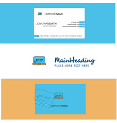 beautiful online shopping logo and business card vector image