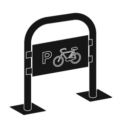 Bicycle parking icon in black style isolated on vector image