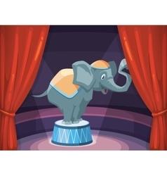 Big elephant on arena circus vector