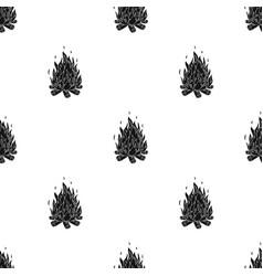 Bonfiretent single icon in black style vector