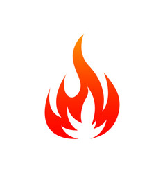 burning fire isolated blazing flame vector image