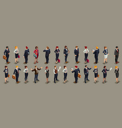 Businessmen people isometric vector