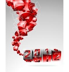 Calendar design 2012 with swirl cubes vector