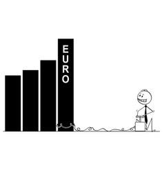 cartoon of businessman using detonator and vector image