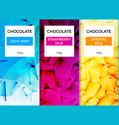 chocolate bar packaging template design chocolate vector image