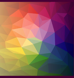 colorful abstract rainbow polygon vector image