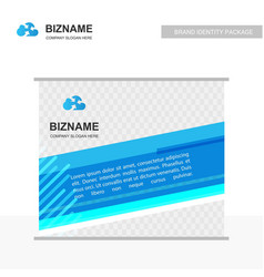 Company advertiesment banner design with blue vector