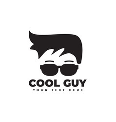 cool guy graphic design template isolated vector image