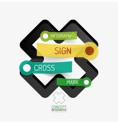 Cross shape infographic concept vector