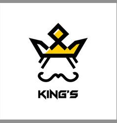 Crown logo abstract design template vector