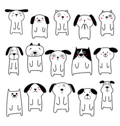 Cute dog character design vector