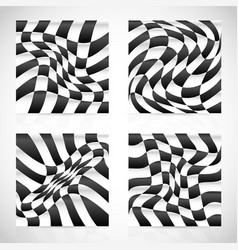 Deformed checkered surfaces with illumination vector