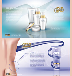 Digital white matte surface skin care vector