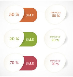 Discount labels and stickers vector image