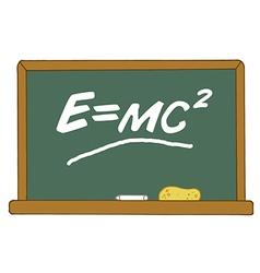 E Equals MC2 On A Chalk Board vector